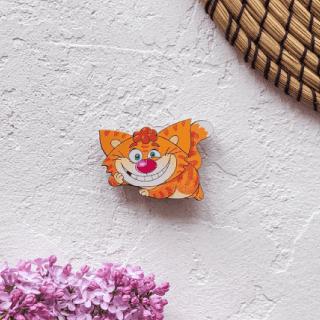 Деревянный значок «Кот Савелий»